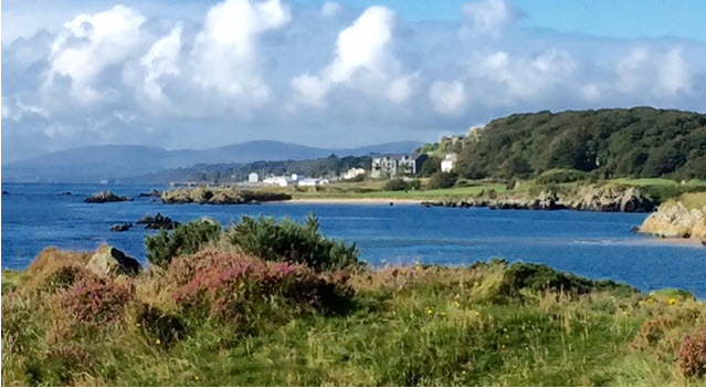 View from the greens at Greencastle Golf Club along Silver Strand Beach