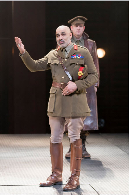 Faran Tahir as Othello and Jonno Roberts as Iago in the Shakespeare Theatre Company's production of Othello, directed by Ron Daniels. Photo by Scott Suchman