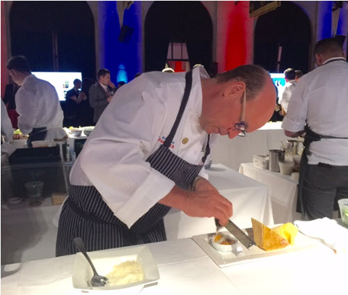 Todd Gray puts the finishing touches on his dish