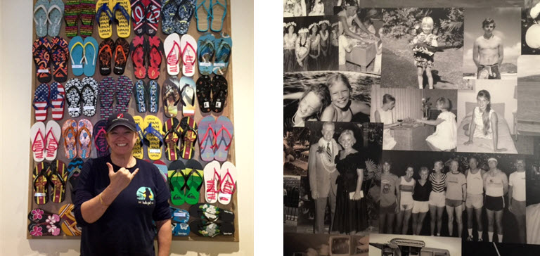 Chef/Owner Mikala Brennan ~ Brennan's family photos line the restroom walls