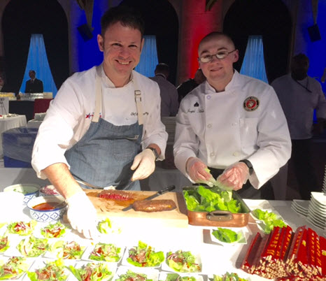 Cathal Armstrong (left) with military chef partner Marine Sargent Joseph Hale