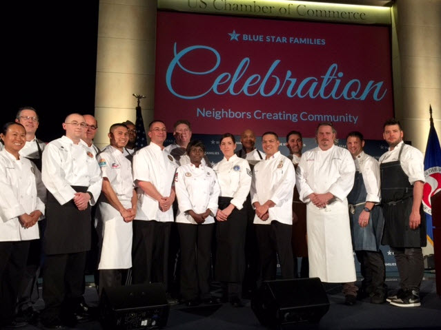 Chefs with their military chef partners