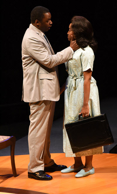 (L to R) Bowman Wright as Martin Luther King, Jr. and Shannon Dorsey as Coretta Scott King. Photo by Stan Barouh.