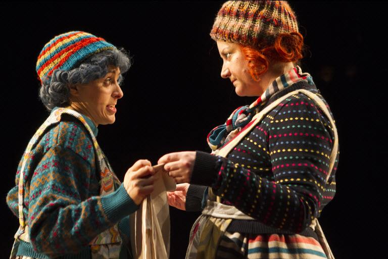 Mary Murray and Sorcha Fox in Fishamble's Tiny Plays for Ireland 2 ~ photo by Pat Redmond