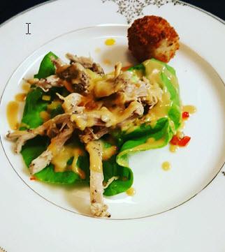 Chicken with Cashews Salad