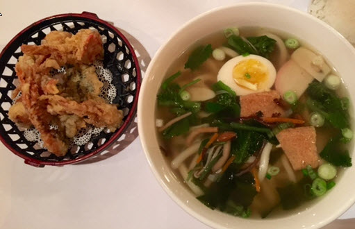 Fried Shrimp and Pho with Udon Noodles