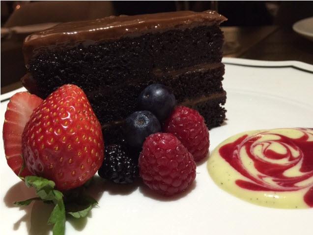Ashlar's Chocolate Cake with berries