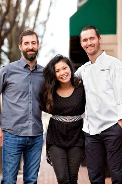 (l-r) Brian McBride - Chef, Maria Concepcion - Lead Bartender and Bobby Surdam E