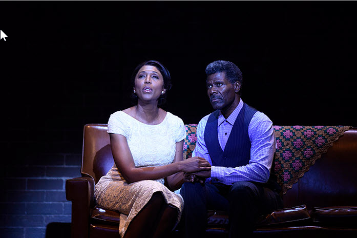 (L to R) Nita Whitaker as Mom Winans and Milton Craig Nealy as Pop Winans in Born for This: The BeBe Winans Story, which runs July 1-August 28, 2016 at Arena Stage at the Mead Center for American Theater. Photo by Greg Mooney, courtesy Alliance Theatre.