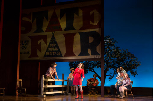 Katie Klaus (State Fair Singer) and the company of the national tour of THE BRIDGES OF MADISON COUNTY. (Photo by Matthew Murphy)