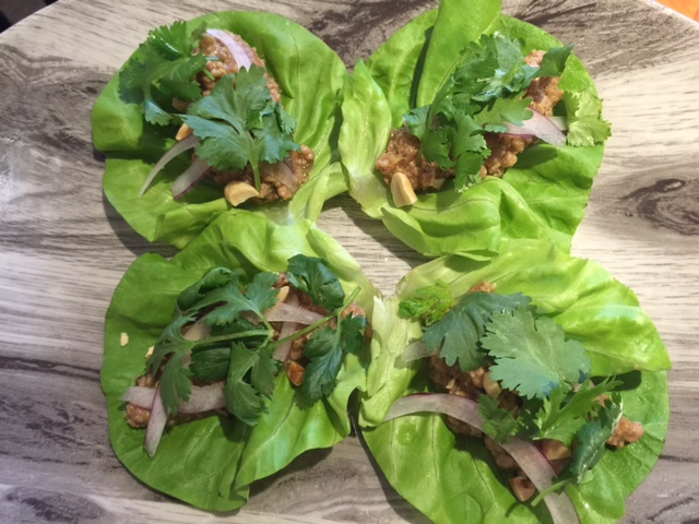 Minced Pork Lettuce Wraps at Preserve