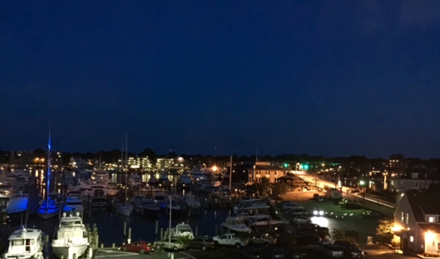 Harbor view from the Annapolis Waterfront Hotel
