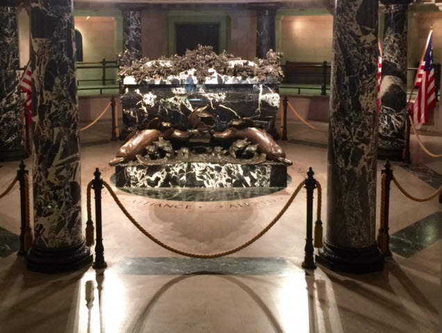 The marble sarcophagus of John Paul Joned