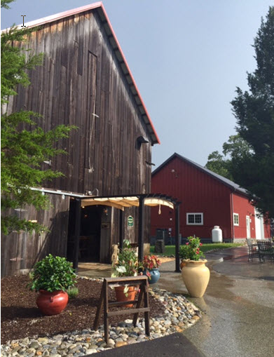 The converted tobacco barn at Great Frogs winery