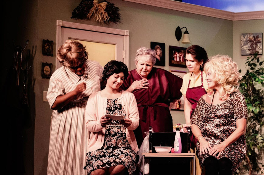 - Brenda Parker (Clairee), Kelsey Yudice (Shelby), Patricia Spencer Smith (Ouiser), Susan Smythe (Annelle), Carla Crawford (Truvy) Photo Credit Misty Angel