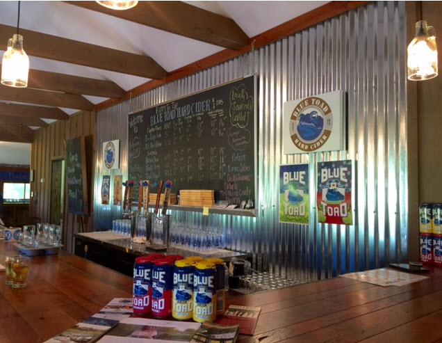 The Tasting Room at Blue Toad Hard Cider