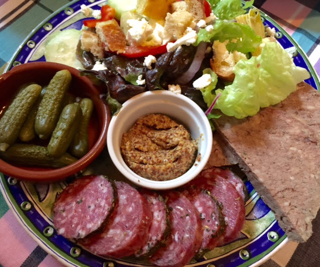Charcuterie platter at Basic Necessities