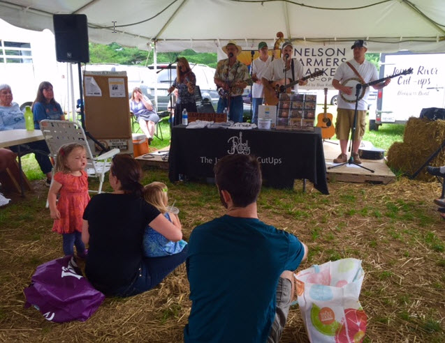 The James River Cut-ups entertain the crowd at the Nelson County Farmers Market