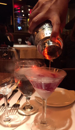 'Berries and Bubbles' gets hand poured at table at Ocean Prime