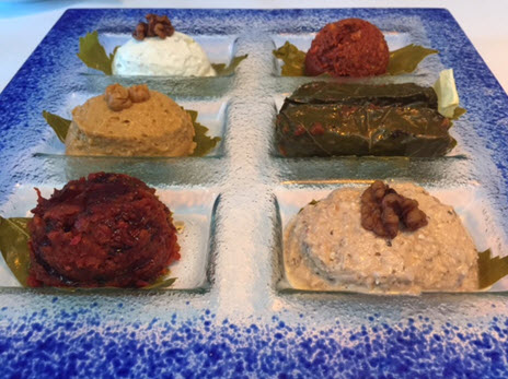 An assortment of mezzes at Ottoman Taverna