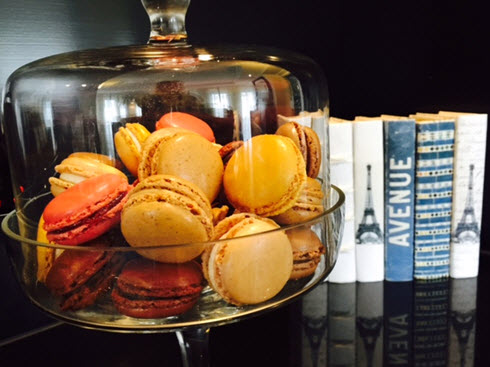 Assortment of macarons