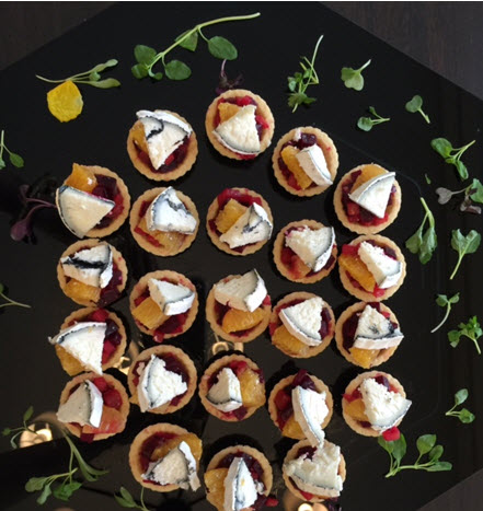 Beet tartlettes with Monocacy Ash goat cheese