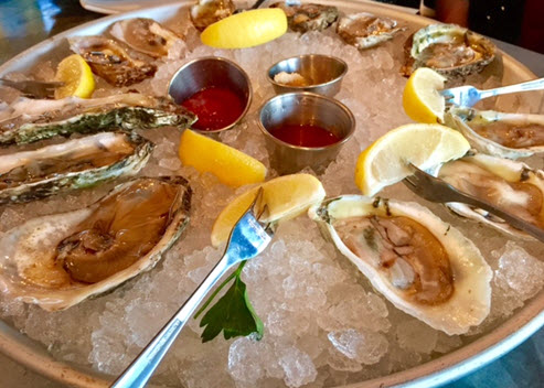 Oyster platter at Blackwall Hitch