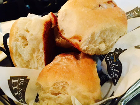 A basket of fluffy biscuits inspired by Chef Lawson's Southern roots