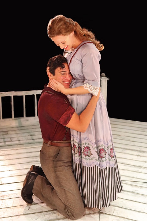 (L to R) Nicholas Rodriguez as Billy Bigelow and Betsy Morgan as Julie Jordan. Photo by Tony Powell.