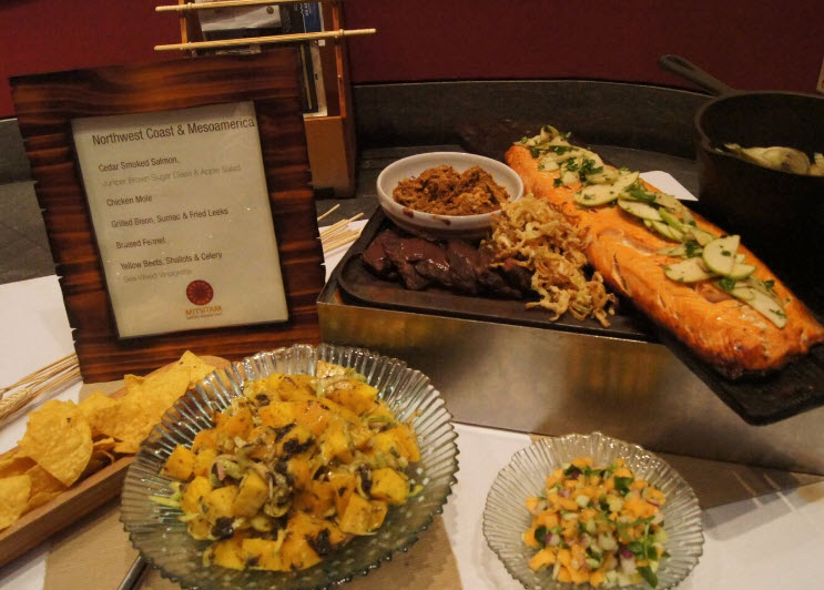 Cedar Smoked Salmon and assorted side dishes - photo courtesy of NMAI