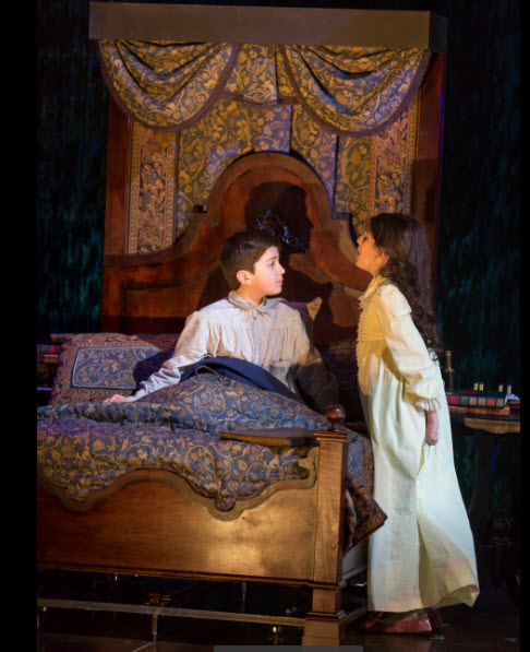 Henry Baratz as Colin Craven and Anya Rothman as Mary Lennox. Photo by Scott Suchman