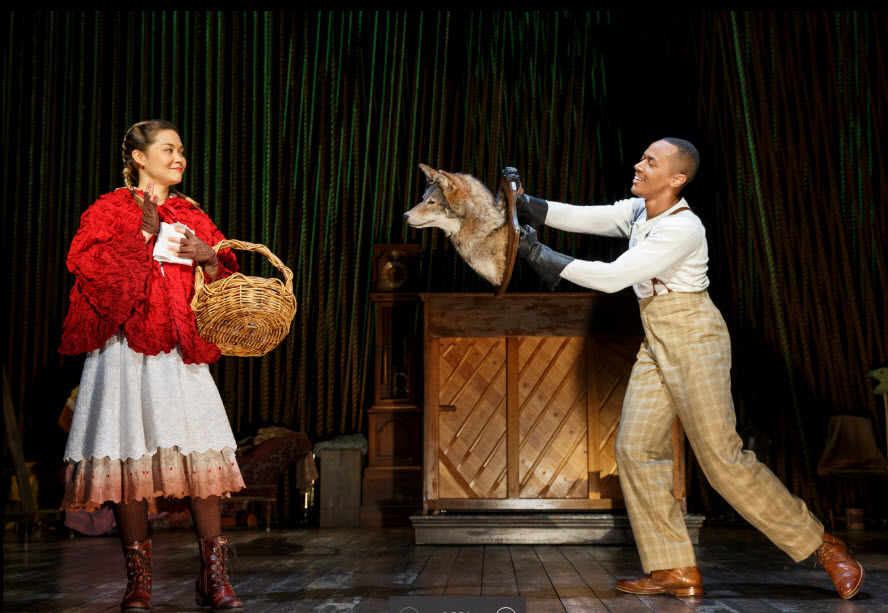Lesa Helmi Johanson as Little Red Ridinghood and Anthony Chatmon II as the Wolf - Photo credit Joan Marcus