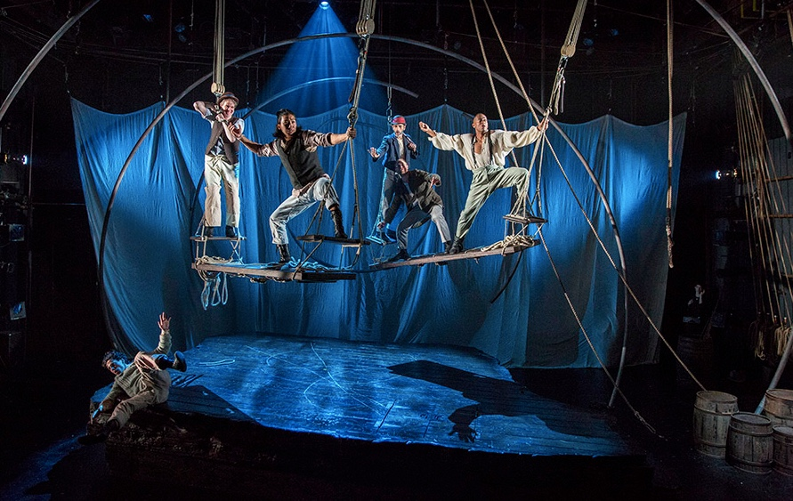 The cast of Moby Dick. Photo by Liz Lauren/Lookingglass Theatre Company.