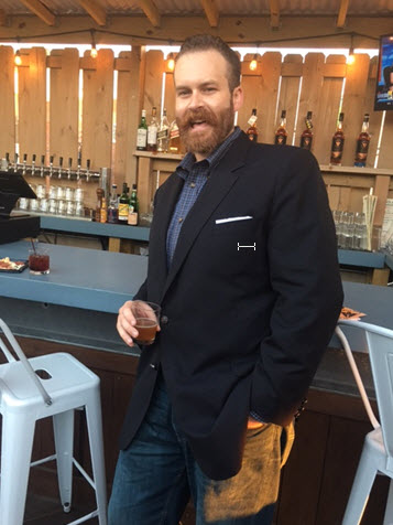 Gareth Moore of the Virginia Distillery Company at the Homestead Restaurant