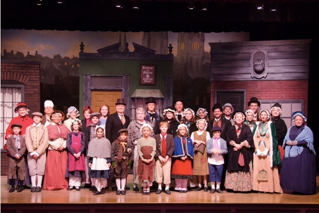Full cast of A Christmas Carol ` Photos by Doug Olmsted