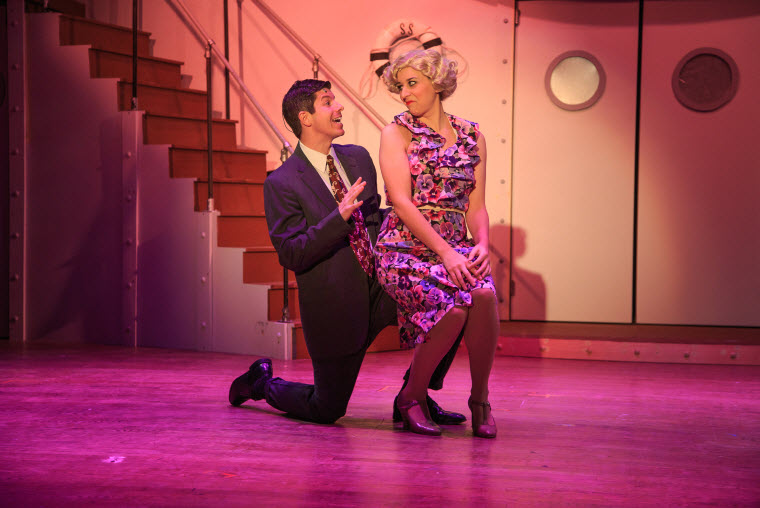 Marshall Cesena (Billy Crocker) and Mara Stewart (Reno Sweeney) = Photos by Keith Waters for Kx Photography