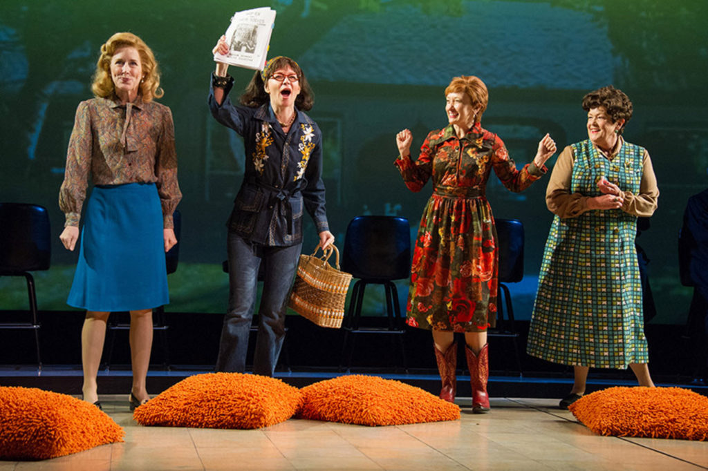 (L to R) Sarah Jane Agnew (as Sarah Weddington), Susan Lynskey, Amy Newman and Pamela Dunlap in Roe at Arena Stage at the Mead Center for American Theater, running January 12-February 19, 2017. Photo by C. Stanley Photography.