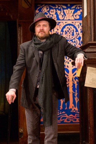 Tom Story as the philosophic misanthrope Jaques in Folger Theatre's production of Shakespeare's As You Like It. On stage January 24 – March 5, 2017. Photo by Teresa Wood.