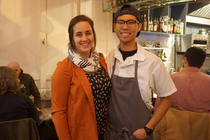 Carlie Steiner, co-owner and beverage director, and Kevin Tien, co-owner and executive chef