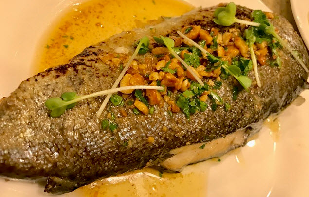 Pan Fried Trout with Hazelnut Butter