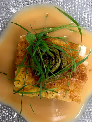Amazon Cod with Soy Beurre Blanc & Fiddlehead Ferns