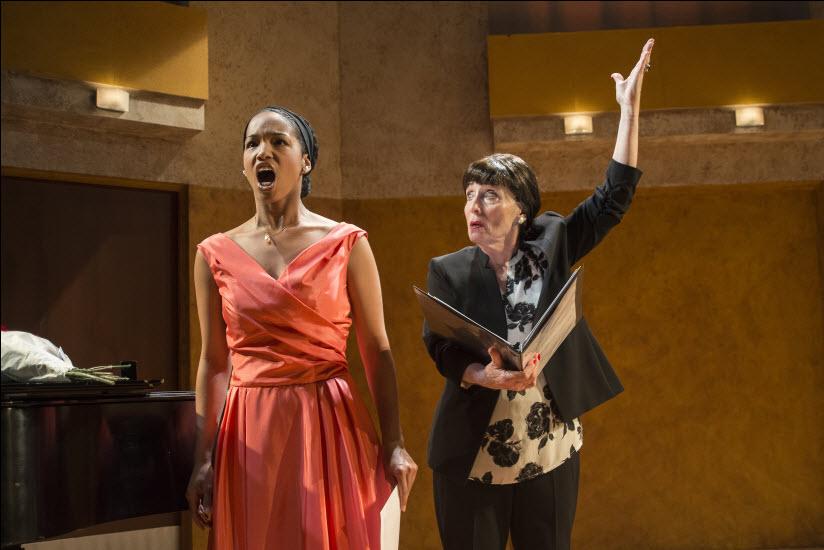 (l-R) Ayana Reed as Sharon and Ilona Dulaski as Maria Callas. Photo credit: Chris Banks