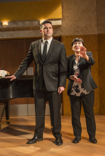 (l-R) Daniel Noone as Tony and Ilona Dulaski as Maria Callas. Photo credit: Chris Banks