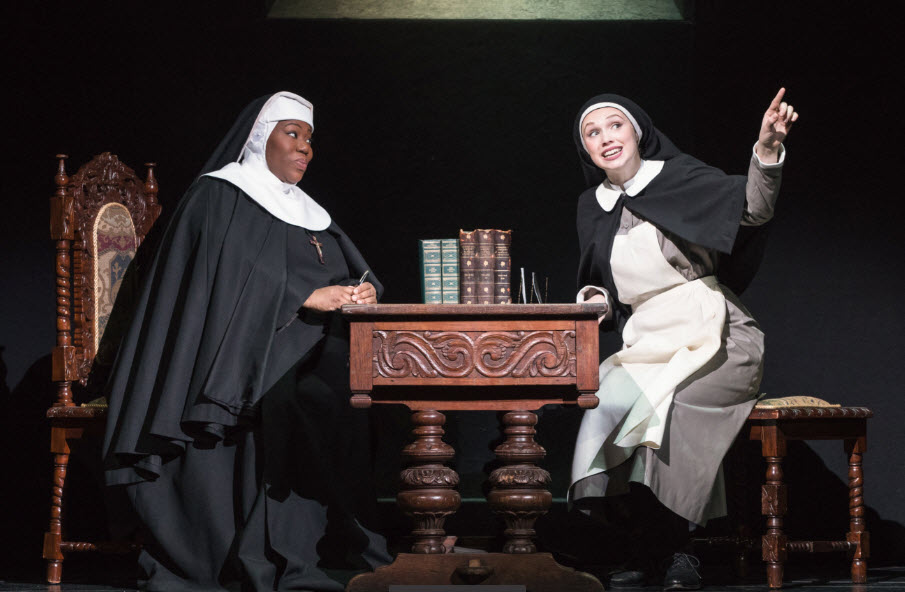 Melody Betts as 'The Mother Abbess' and Charlotte Maltby as 'Maria Rainer' - Photo: Matthew Murphy