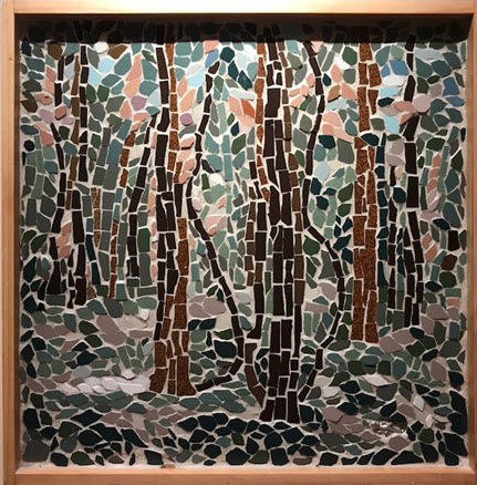 Nature-inspired mosaic by Nina Tisara - Photo credit Jordan Wright