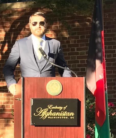 Afghan Ambassador Hamdullah Mohib gives opening remarks