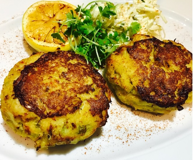 Jumbo crab cakes at Red's Table