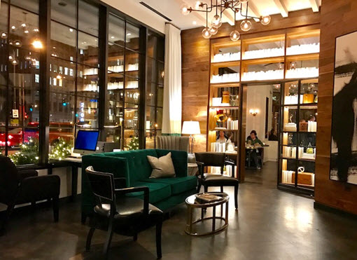 The green velvet sofa beckons at Tredici Enoteca