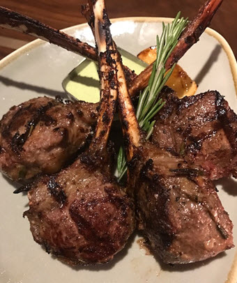 Double lamb lollipops at Tredici Enoteca