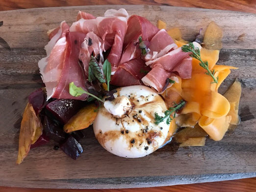A beautiful charcuterie board at The Wine Kitchen